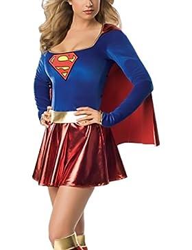 Saoye Fashion Mujer Vestidos De Fiesta Cortos Supergirl Vestido Halloween Cosplay De Adult Costume Disfraz