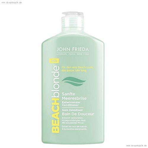 John Frieda Beach Blonde Sanfte Meeresbrise Entwirrender Conditioner 250 ml Schenkt sonnenstrapazierten Haar einen seidigen Glanz (Glanz Frieda John)