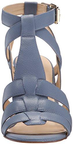 Nine West Farfalla Cuir Sandales Compensés Med Blue