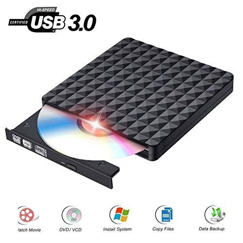 Externes CD DVD Laufwerk USB 3.0 Portable Ultra Slim DVD-RW DVD CD Brenner für Windows 2003/Vista/XP/7/8.1/10/Mac OS
