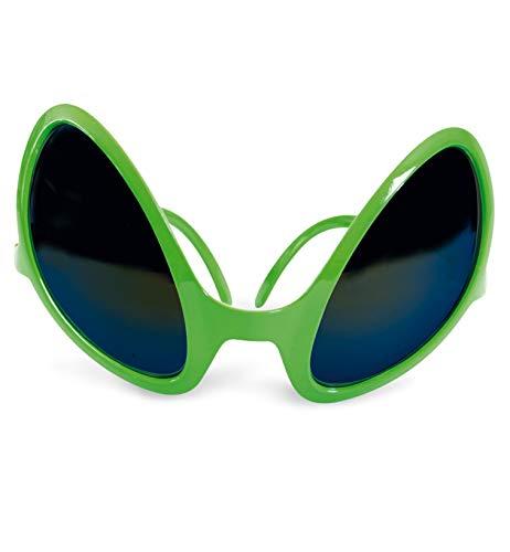 FASCHING 50366 Alien-Brille Sonnenbrille grün NEU/OVP