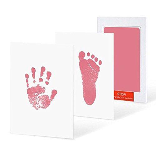 by Abdruckset Inkless Fußabdruck Handabdruck Kit Stempelkissen Ohne Tinte-Touch Safe Magic Footprint Kit Abdruck-Set für Baby Shower Registry Geschenk Das Babyparty Ges ()