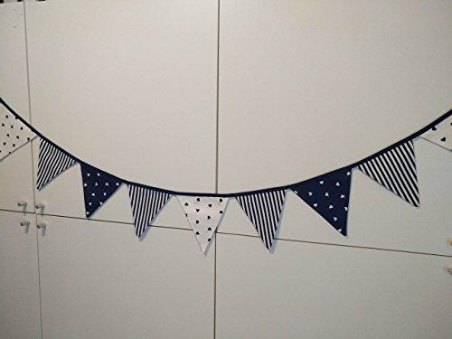 Guirnaldas - banderines azul marino