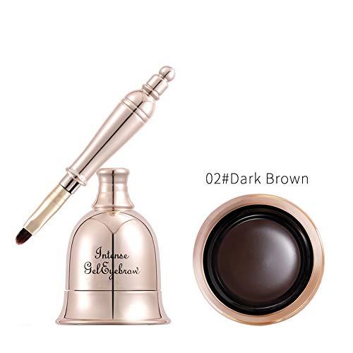 Gold Bell Augenbrauen-Tönungscreme-Kit mit Pinsel-Augenbraue-Farbgel Retro elegante Form