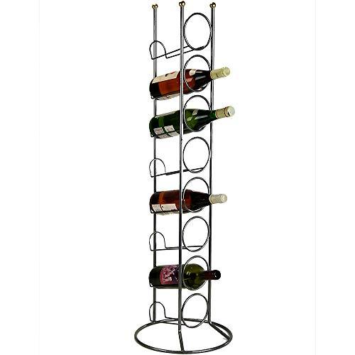 Formano Weinregal Flaschenhalter für 8 Flaschen, 100 cm, silber, Eisen/Edelstahl