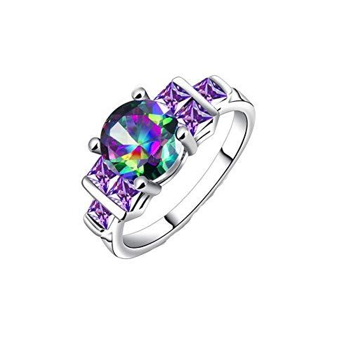 lichkeit Bunte Zirkon Ringe Metall Geometrische Kristall Ringe Für Frauen Freundinnen Party Ringe Geschenke Zubehör ()