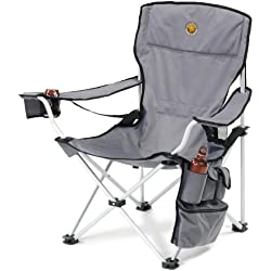 Grand Canyon VIP - Silla para camping plegable, aluminio, gris/negra