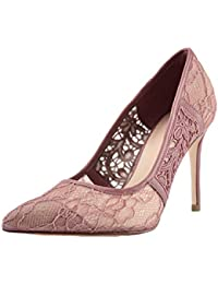 b5f7b9093c0 YongBe Nuevas Mujeres de Encaje Rosa Hueco Punta Estrecha Tacones Altos  Sandalias Zapatos de tacón Alto