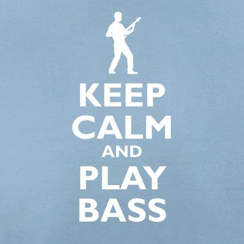 Keep Calm and Play Bass Guitar - Herren T-Shirt - 13 Farben Himmelblau