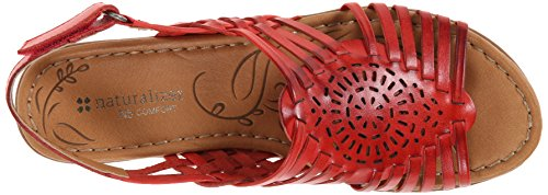 Naturalizer Wendy Cuir Sandale Cardinal Red