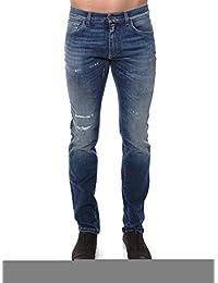 Dolce E Gabbana Homme G6XOCDG8U46S9001 Bleu Coton Jeans