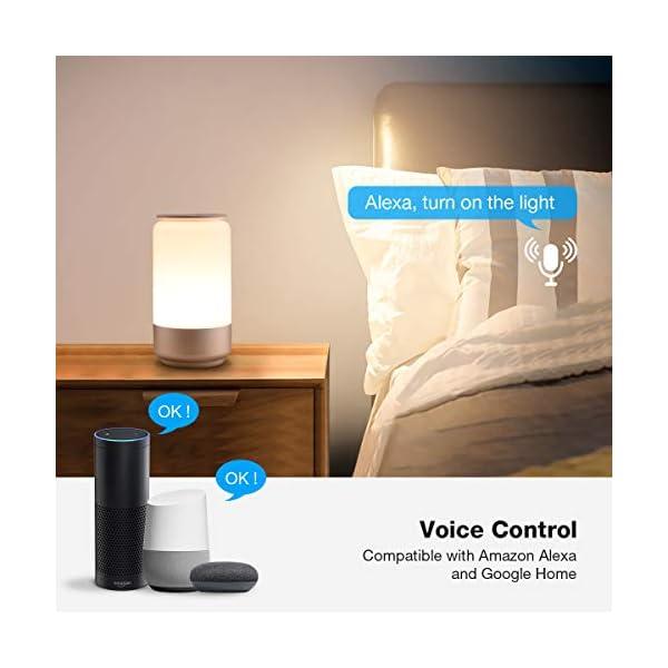 LE Lampada da Comodino Touch Intelligente WiFi, Compatibile con Alexa e Google Home, Luce Notturna 16 Milioni RGB e… 2 spesavip