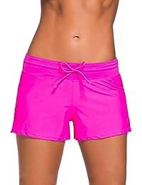 38865d507b54 HX Fashion Short De Surf pour Femme sur La Plage Short Tailles Confortables  De Bain À Séchage Rapide Vetement…