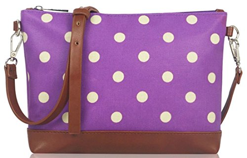 Kukubird Polka Dot Mini Cross Body Bag Con Sacchetto Di Polvere Di Kukubird Purple