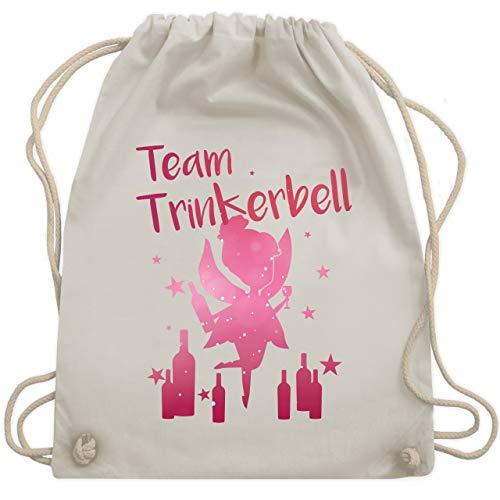 JGA Junggesellinnenabschied - Team Trinkerbell mit Flaschen - Unisize - Naturweiß - WM110 - Turnbeutel & Gym Bag (Weiße Flasche Kostüm)