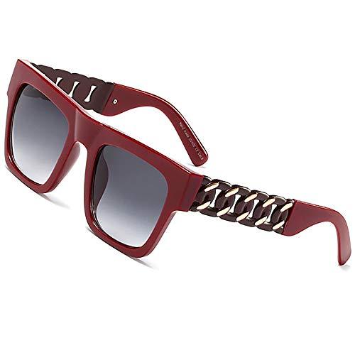 Mode Promi inspiriert Gold Metall Kette Kim Kardashian Beyonce Sonnenbrille Jahrgang Hip-Hop-Sonnenbrille luxuriös