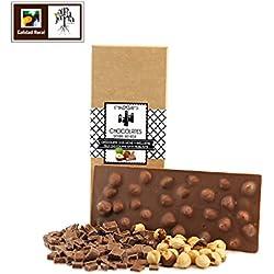Chocolate artesano con leche y avellanas