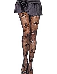 Amazon.fr   tete de mort - Chaussettes et collants   Femme   Vêtements 701a82d122e