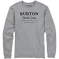 Burton Durable Goods Camiseta, Hombre, Gray Heather, L