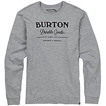 Burton Durable Goods Camiseta, Hombre, Gray Heather, M