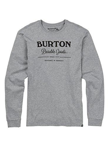 Burton Durable Goods, Maglia A Maniche Lunghe Uomo Gray Heather