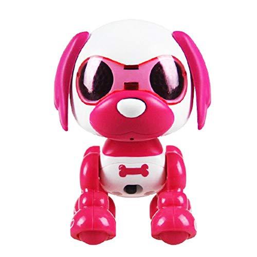 iBoosila Roboterhund für Kinder Puppy Roboter Hund Interaktives Kinderspielzeug mit Emotionen und Bewegung, Bellen und Spielen mit Knochen, Akku und USB-Kabel, Roboter Kinder Spielzeug Hund