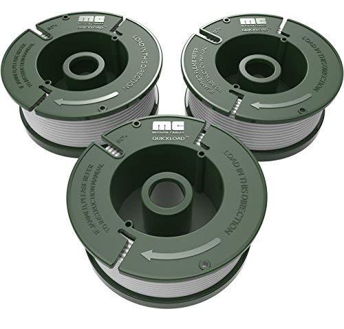 Mission Cable MC28v1 Fadenspulen 3 in 1 Pack für Black+Decker Rasen-Trimmer (1,5mm Fadendurchmesser, 13,5m Länge pro Spule, 3 Spulen im Paket) Black und Decker schwarz - Rasen Trimmer Decker Black Und