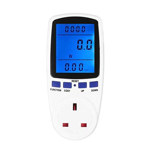 Ruiboury Digitaler Energiezähler Spannungs- und Strommessgerät Watt-Prüfer Stromsparfunktion Steckdose Analysator Elektronischer Schalter (Steckdose Schalter Elektronische)