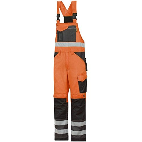 Snickers Workwear High-Vis Latzhose, Größe 88, orange, 113