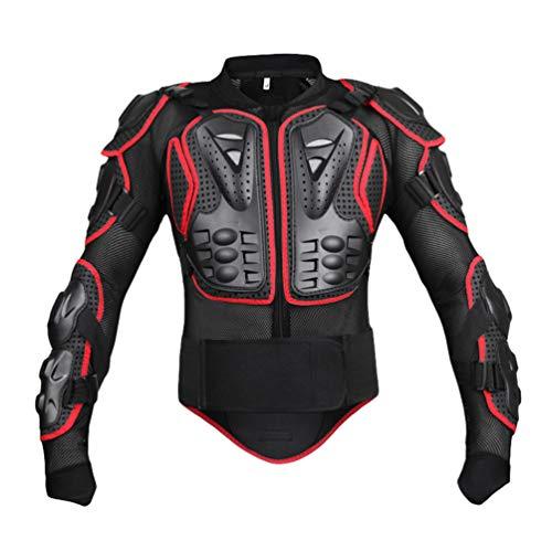 Yuanu Motorrad Schutzausrüstung Berg Reiten Skaten Snowboarden Brustpanzer Motorrad Ganzkörper-Rüstung mit Brust und Rücken Schutz Schwarz&Rot M