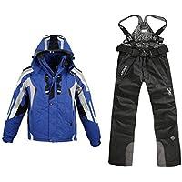 Fenido Traje de Esquí Hombres Ski Chaqueta Impermeable Coat Chaqueta de Ski Pantalones