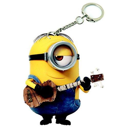 Llavero de los Minions, diseño de Stuart con guitarra
