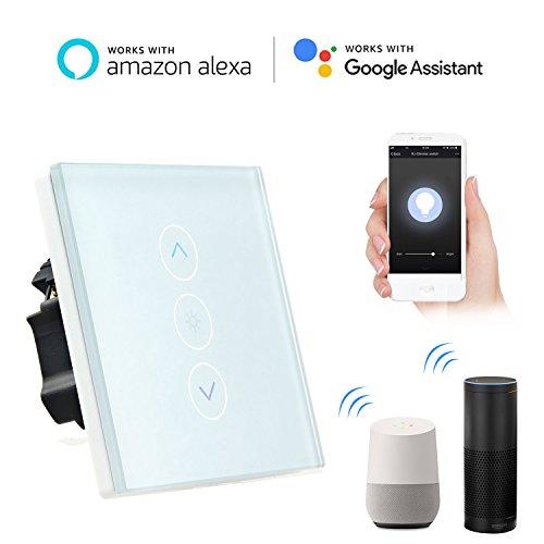 Smart Lichtschalter, Leegoal WiFi Dimmer Wireless Schalter arbeitet mit Amazon Alexa Google Home IFTTT, IOS Android App Fernbedienung, kein Hub erforderlich, Timing-Funktion, Überlastschutz (Dimmer Lichtschalter Installieren)