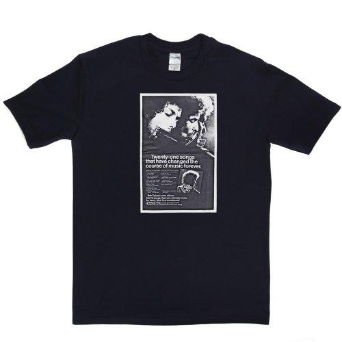 Dylan Volume II Album Music Track Tee T-shirt Marineblau