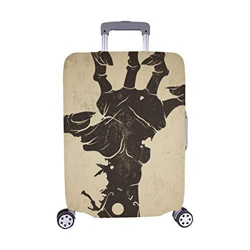 (Nur abdecken) Vintage Halloween-Symbol Zombie Hand Spandex Staubschutz Trolley Protector case Reise Gepäck Schutz Koffer Abdeckung 28,5 X 20,5 Zoll