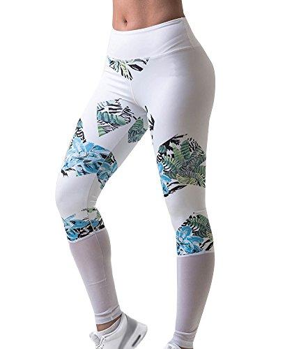 Donne Pantaloni Vita Alta Sport Palestra Stampa Yoga Esecuzione Fitness Leggings Come Immagine