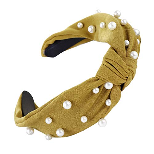 Vorname Haarreifen Damen Stirnband Haarreif Kopfband Stirnbänder Sport Breit Headband Süße Mädchen Perle Mode Hairband Vintage Haarbänder Breit Haadband Haarschmuck Cross Kopfband