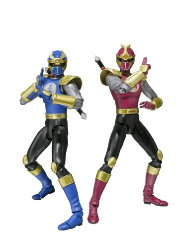 Bandai Tamashii Nations S.H. Figuarts Crimson Thunder Ranger and Navy Thunder Ranger Power Rangers Ninja Storm Action Figure Set by Bandai