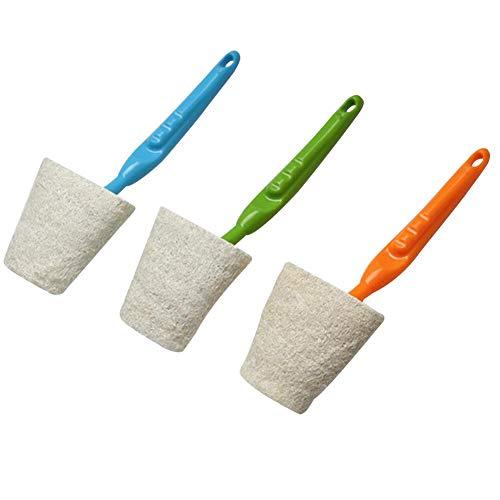 MRlegendary Luffa-Reinigungsschwamm, 3er-Pack Natural Loofah Pads Tragbarer Haushaltsgeschirrspüler für Küche, Geschirr, Bad, Möbel