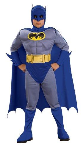 Kostüm Batman das tapfere und das fette muskulöse (Deluxe Kostüme Batman Kleinkind)