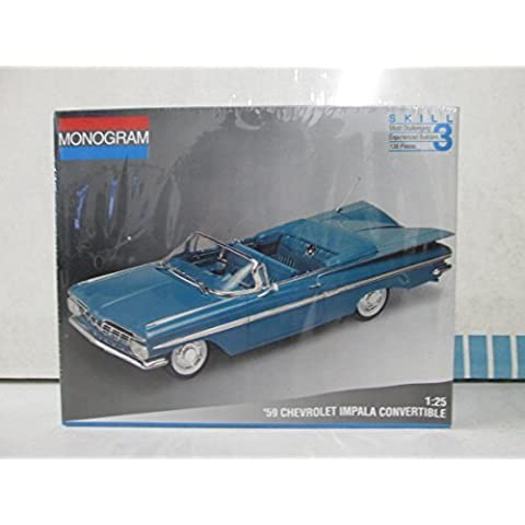 Monogram '59 Chevrolet Impala Convertible Model Kit 1/25 by Monogram