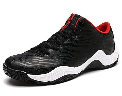 Hommes Chaussures De Sport En Plein Air Respirantes 2017 Bottes De Basket-ball D'automne En Grande Taille ( Color : Black , Size : 44 )