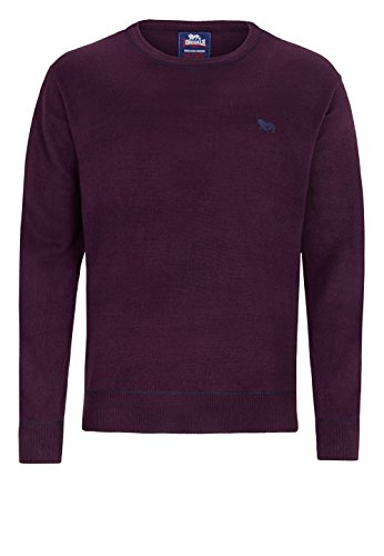 Lonsdale Men Roundneck Knit-Sweater TAMWORTH - Black Lilac
