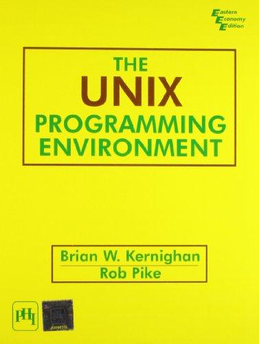 The Unix Programming Environment par PIKE ROB KERNIGHAN BRIAN W.