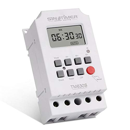 SINOTIMER TM630S-4 7 Days Weekly LCD Digital Timer Switch Second Control Cloverclover