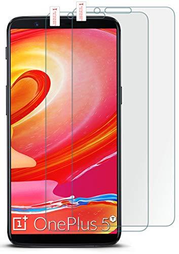 moex 2X 9H Panzerfolie für OnePlus 5T | Panzerglas Bildschirm Glasfolie [Tempered Glass] Screen Protector Glas Bildschirmschutz-Folie für OnePlus 5T Schutzfolie