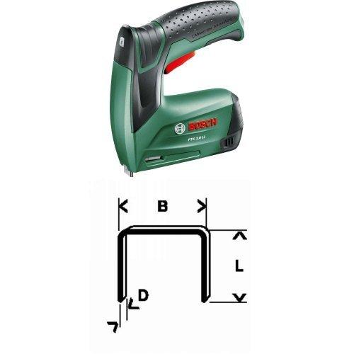 Bosch PTK 3,6 LI - Grapadora batería, Softgrip, Push
