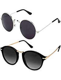 Y&S UV Protected Unisex Sunglasses for Mens Women Boys and Girls Stylish Combo