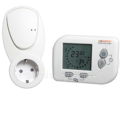 WT852 Funk-Thermostat programmierbar 16 A Raumthermostat für Infrarotheizung