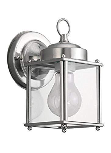 Außenwandleuchte Antik Nickel Gebürstet Transparentes Glas Einfache Flur Gartenleuchte - Antique Nickel Gebürstet Glas